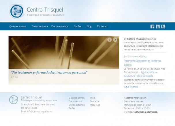 Centro Trisquel   Fisioterapia  Osteopatía  Acupuntura y Podología Asturias
