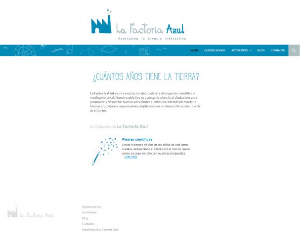 La Factoría Azul   Acercando la ciencia interactiva