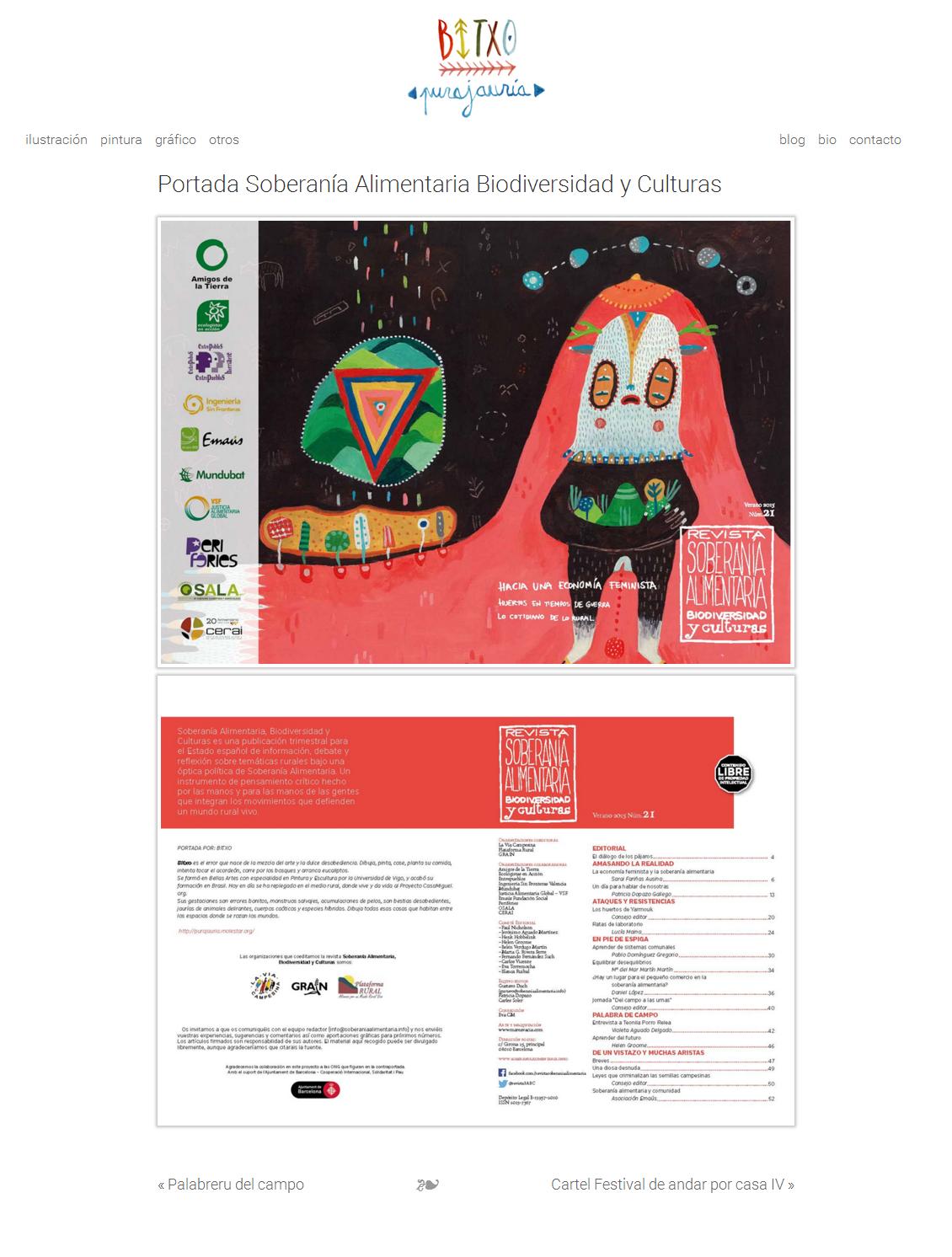 Portada Soberanía Alimentaria Biodiversidad y Culturas « BITXO   pura jauría